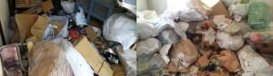 広島市西区で大量の不要品処分のビフォー写真