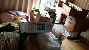 広島市安芸区で学習机、照明など回収のビフォー写真