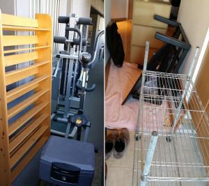 広島市東区で本棚、健康器具など回収写真