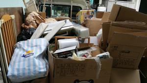 広島市西区で空気清浄機、等回収の写真