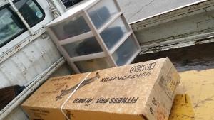 広島市中区でパソコン、腹筋台など回収の写真