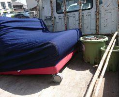 広島市南区宇品神田でソファーベッド、植木鉢、竹竿の不用品回収 施工事例紹介