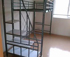 福山市瀬戸町地頭分でロフトベッド、カウンターテーブル、本棚の不要品回収 施工事例紹介