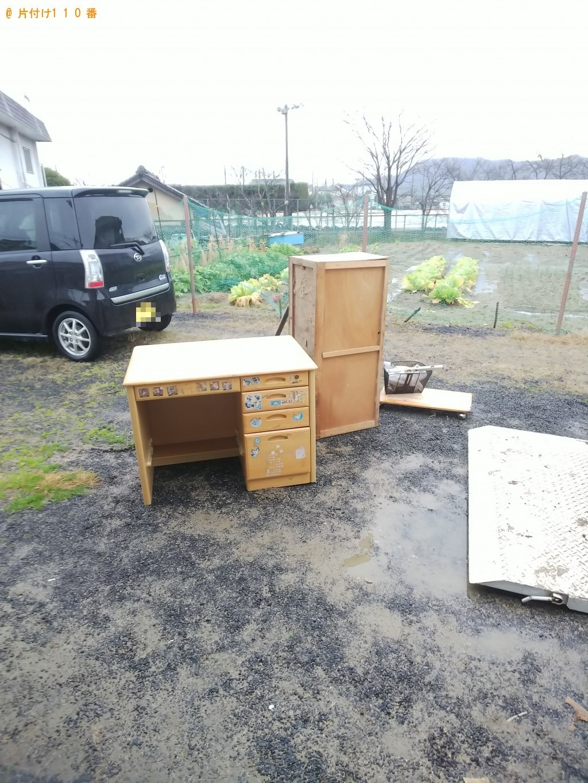 【福山市駅家町】エアコン、整理タンス、食器棚などの回収・処分