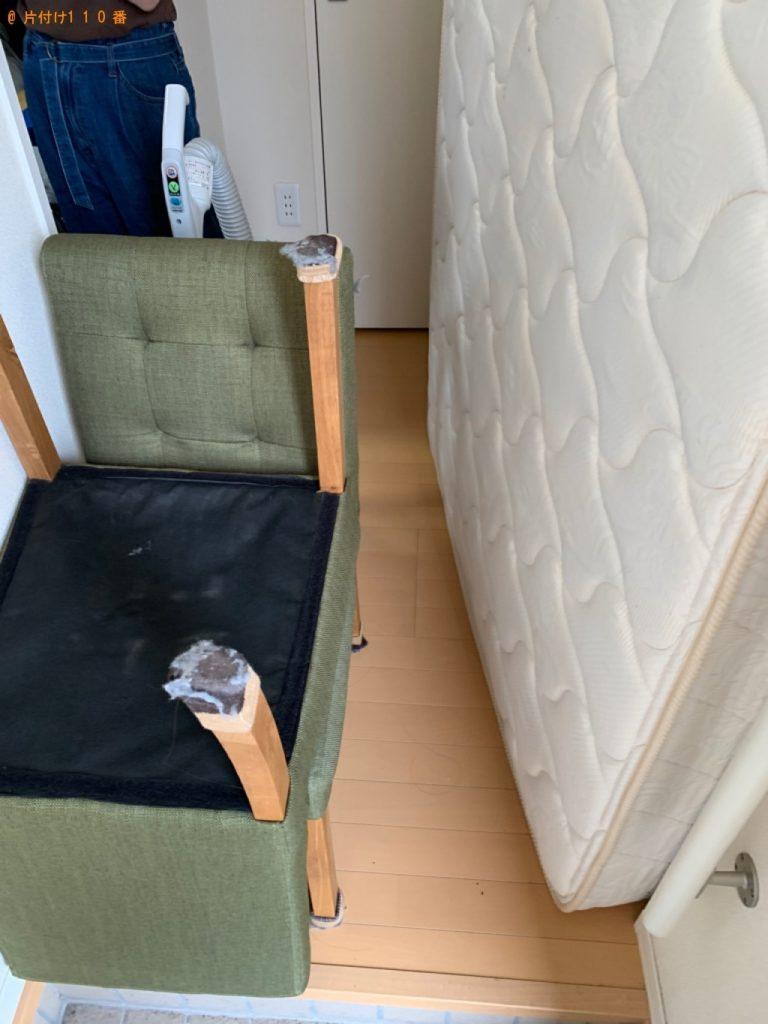 椅子、セミダブルマットレスの回収・処分ご依頼
