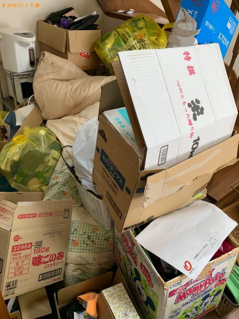 カーペット、布団、ダンボール、ポット等の回収・処分