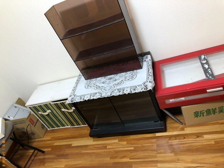 【広島市】ガラステーブル、ソファーベッド、カラーボックス等の回収