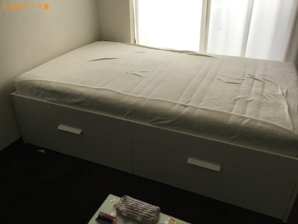 【広島市】冷蔵庫、洗濯機、マットレス付きセミダブルベッドの回収